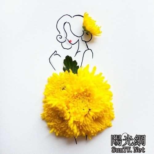 當手繪美女與花兒結合 你會聞到前所未有的芳香--陽光網