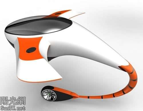 城市未來的鯊魚飛行器