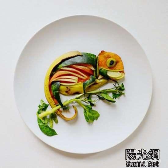 非常有食慾的创意水果蔬菜拼盘