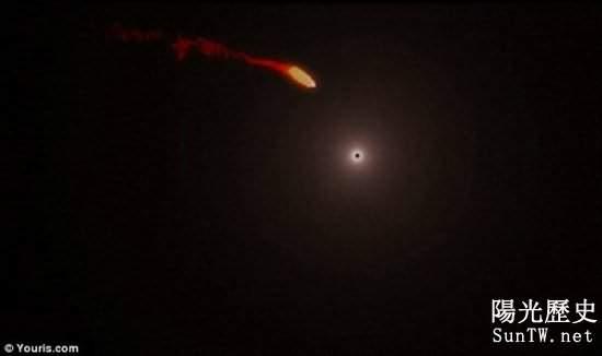 2013年將現罕見天體碰撞:巨型氣體雲將撞黑洞
