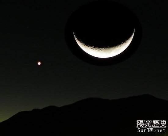 晚上天空將上演「土星伴月」的景象