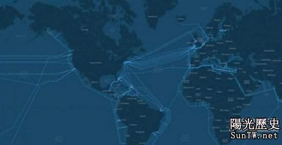 一張圖瞭解全世界海底電纜的整體分佈