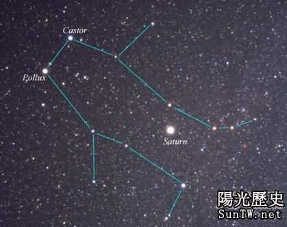 揭示雙子星座被認為古代航海家保護神