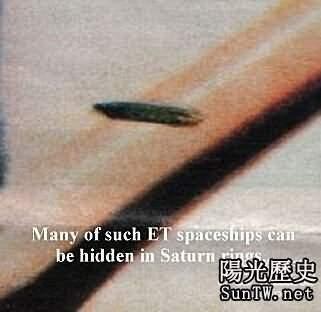 震驚!土星出現長達50000公里太空船