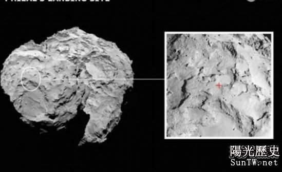 探測器著陸地點被公佈 位於彗星頭部