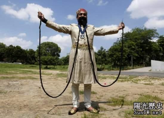 世界人體之最:最長鬍鬚竟達5.5米!