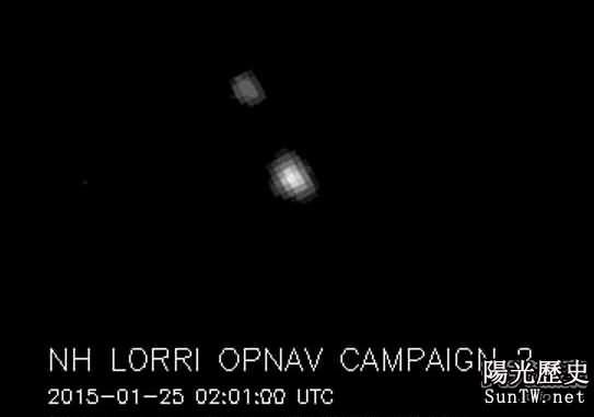 人類探測器拍攝到冥王星和它的小夥伴