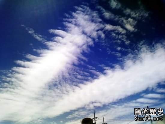 地震雲照片