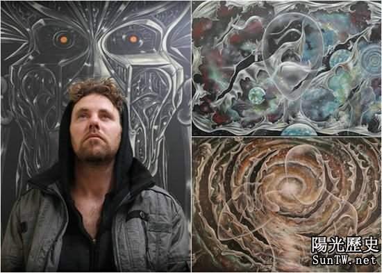 英畫家繪外星怪畫 稱10年被外星人綁6次