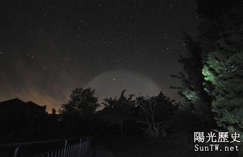 上海高空目擊超級UFO 北京上空出現奇怪光圈