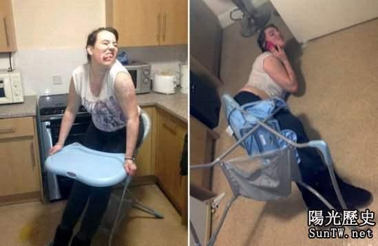 女子醉酒後坐兒童椅 臀部被卡難脫身